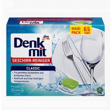 Таблетки для мытья посуды в посудомоечной машине Denkmit Geschirr-Reiniger Classic 65шт