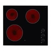 Варочная панель стеклокерамика Ikea, черный, 59x52 см (б/у)