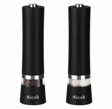 Электрические мельницы для соли и перца Aicok EB834 Black