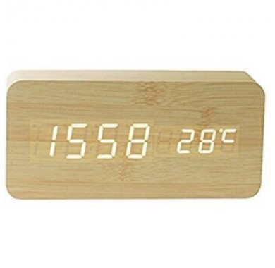 Цифровые часы Kwmobile из дерева