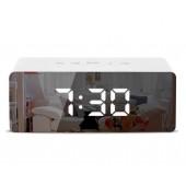 Светодиодные цифровые часы Mirror Wake Up Light White