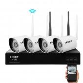 LESHP 4-канальный NVR с WIFI IP камерами видеонаблюдения