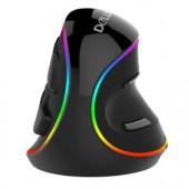 Вертикальная мышь Delux M618 Plus RGB