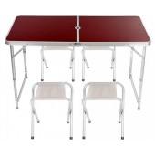Стол для пикника раскладной со стульями Folding Table 120х60х55 60/70 см